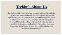 Teckinfo Solutions Pvt Ltd | Call Center Software Solutions