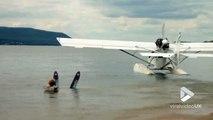 Ski nautique tiré par un... Avion Hydravion !! Décolle pas !