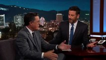 Stephen Colbert Liked Jimmy Kimmels Sean Spicer Interview