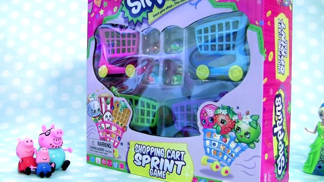 Anna Elsa & Belle Shopping For Shopkins Shopping Cart Sprint Game NEW CARTS 2016