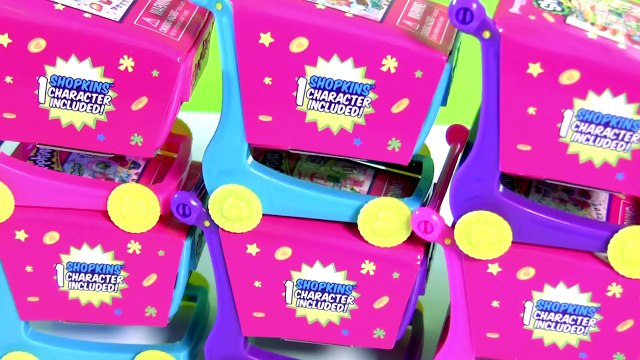 SHOPKINS Shopping Carts Surprise Disney Princess Sofia Peppa Pig Funtoyscollecto