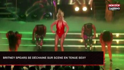 Britney Spears se déchaîne sur scène en tenue sexy (Vidéo)