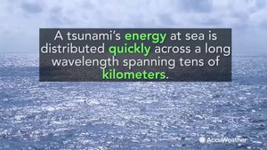 Can a tsunami impact a cruise ship at sea?