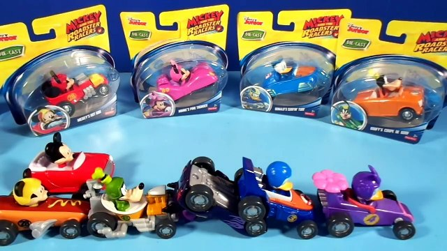Disney Junior MICKEY AND THE ROADSTER RACERS Toys! Mickey Mouse Donald Goofy Minnie Daisy Duck Toys