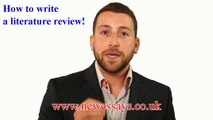 How to write a literature Review -  Literature Review Writing Service in the UK - Essay Writing Service in London