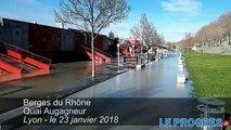 Le Rhône et la Saône en crue