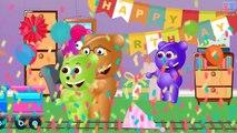 Mega Gummy bear drinking magic Cake pop daddy song finger family nursery fun for kids
