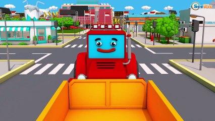 Trator e o Super Caminhão e o Pequeno Caminhão na Cidade do Carro | Desenho animado para crianças
