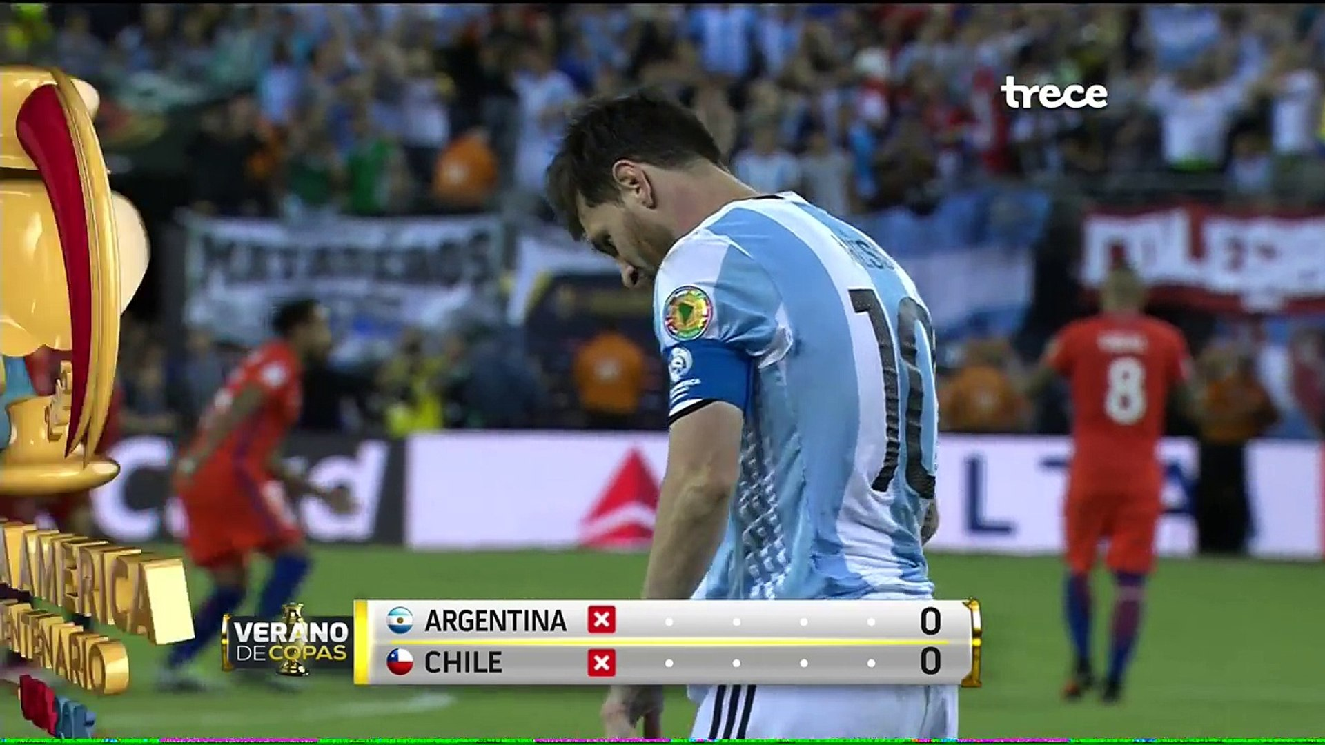 Argentina vs Chile 0-0 (2-4) Copa America 2016 TV AZTECA FULL HD - CHILE CAMPEON