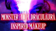 Monster High Dolls Halloween Draculaura Makeup Tutorial