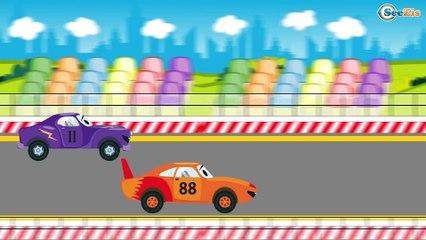 Construction Trucks: The Red Bulldozer working - Cars & Trucks Cartoon for kids