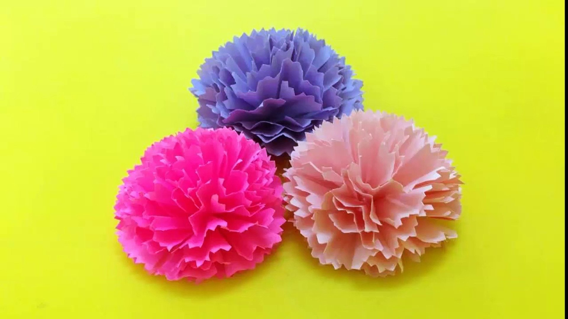 How To Make Carnation Paper Flower Easy Origami Flowers For Beginners Making Diy Paper Crafts