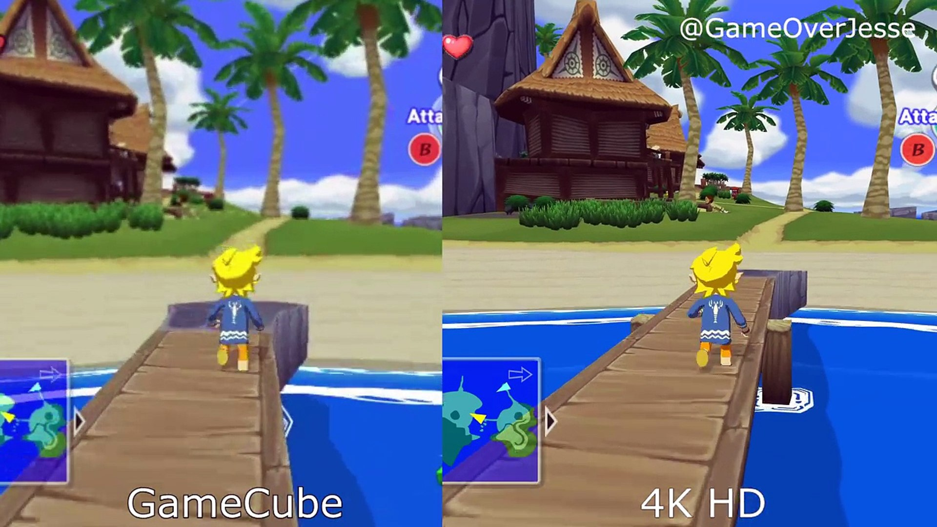 Zelda Wind Waker Hd 4k Graphics Comparison Next Gen Vs Wii U
