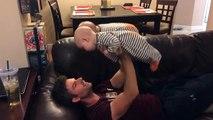 Dad Bench Presses Twin Babies - Jokeroo