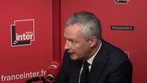 """Bruno Le Maire : """"En terme des réductions des inégalités, la France fait mieux que ses voisins"""""""