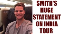 Steve Smith leaves message for India after returning home | Oneindia News