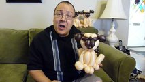 Pug Balloon Animal Tutorial (Balloon Twisting and Modeling # 21.2)