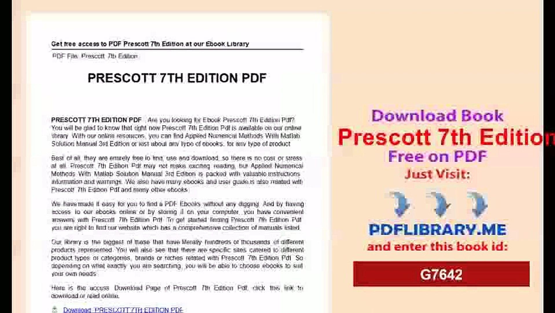 Bestseller: Prescott Microbiology 7th Edition