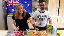 Taste Testing Aussie Treats - Vegemite, Milo, Tim Tams!