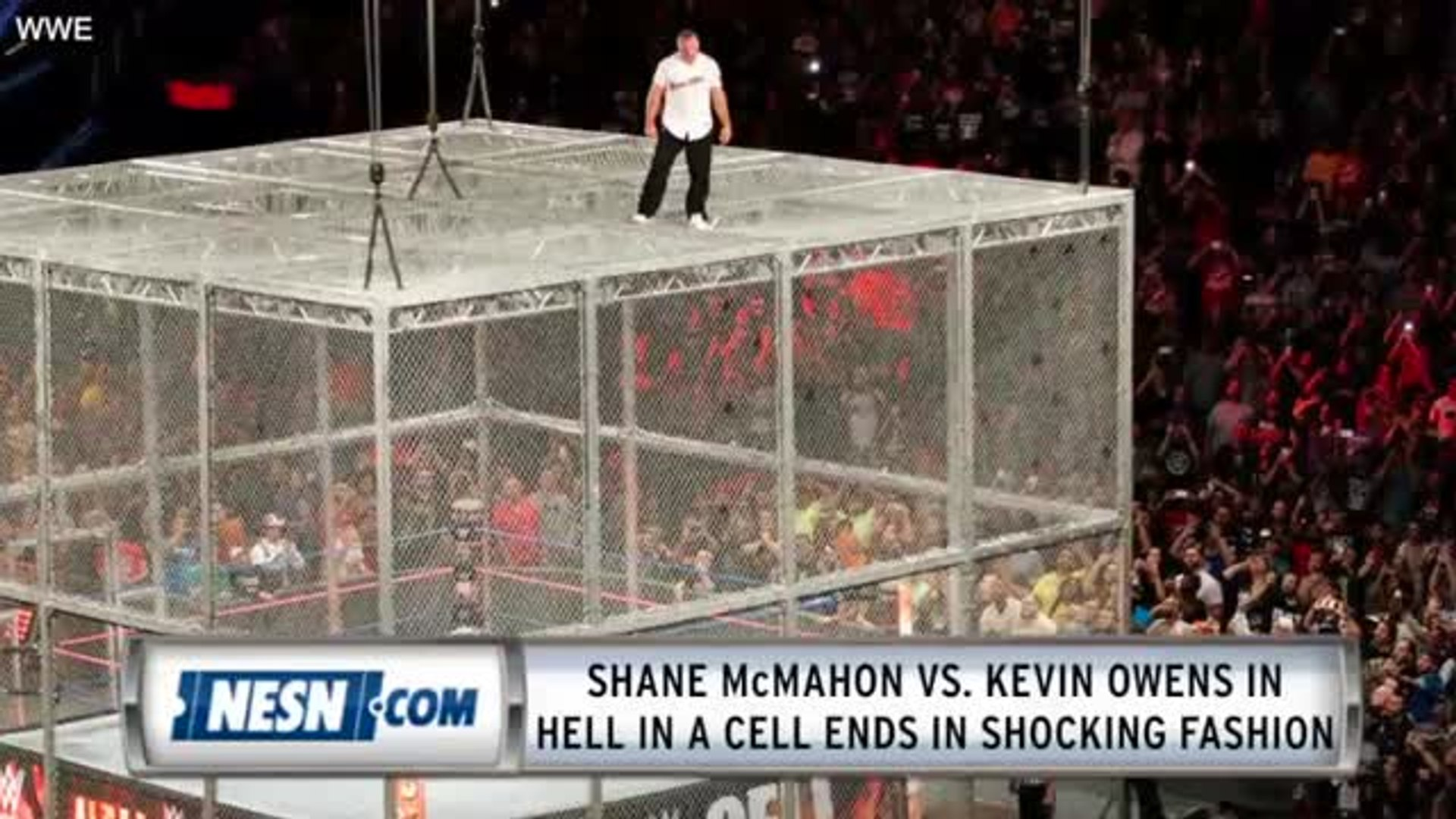 Shane McMahon Falls 20-Feet In Hell In A Cell Vs. Kevin Owens