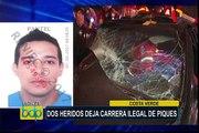Costa Verde: carrera ilegal de piques deja dos heridos