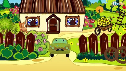 The Red Truck & his FRIENDS + 1 Hour kids videos compilation Vehicles Cartoons for children