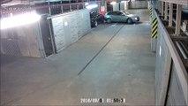 Un drôle conducteur ivre n'a raté aucun mur dans un parking !