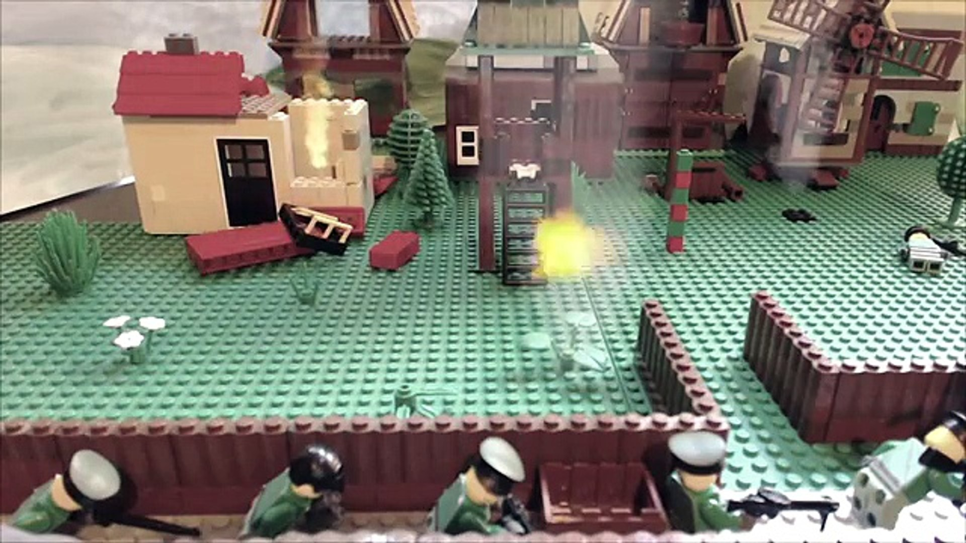 First day of World War2/ Первый день ВОВ. Лего мультфильм о войне!