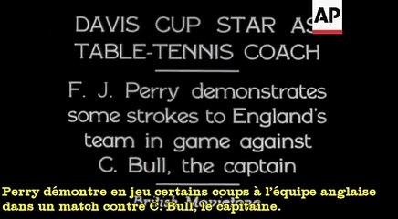 1932 ou 33 Davis Cup Star As Table Tennis Coach CG