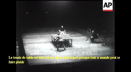 1939 European Table Tennis Championships Open d'Angleterre Vainqueur Bergmann et Nicoll CG