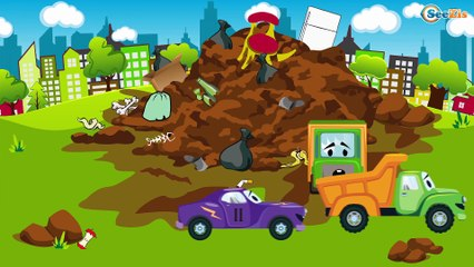 Racing Cars FUN HOT CHALLENGE - Cartoons for children - Cars & Trucks for Kids