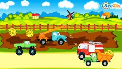 СБОРНИК: Все серии подряд - Пожарная машинка тушит пожар - Развивающие видео для детей
