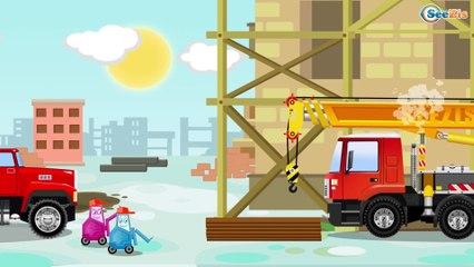 СБОРНИК: Мультфильмы про МАШИНКИ - Пожарная машинка тушит пожар - Развивающие видео для детей