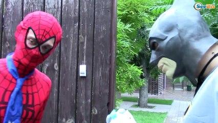 Frozen Elsa & Spiderman vs RAMPAGE HEAD Joker, Maleficent, Hulk Spidergirl Superheroes in Real Life