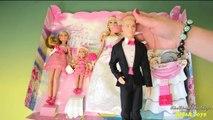 Barbie Wedding Set Barbie and Ken Bride and Groom Dolls Bridesmaids Dolls Barbie Toy English