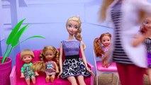 BARBIE DENTIST Visit with Frozen Kids, Doctor Spiderman & Barbie Kelly Dolls by DisneyCarToys