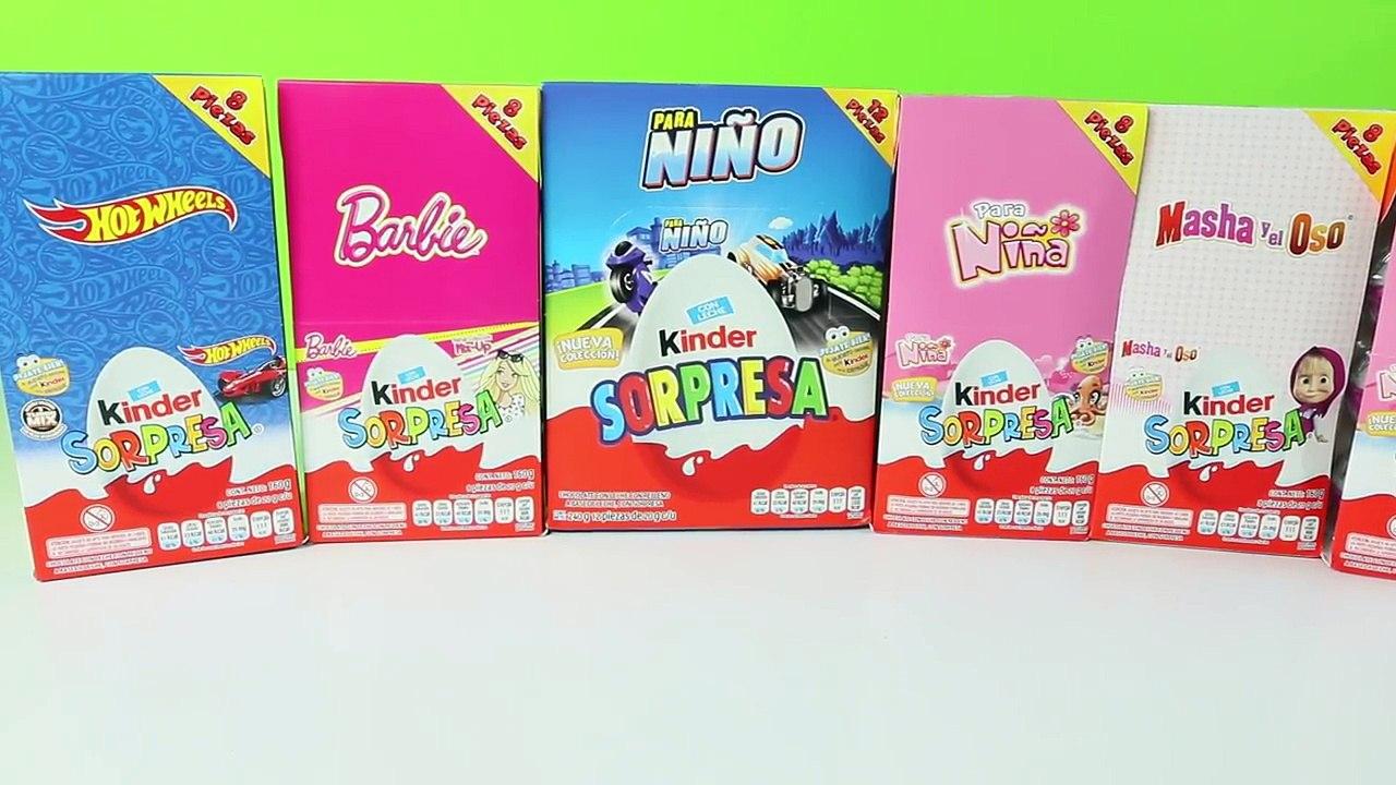 Huevos Kinder Sorpresa De Barbie Hot Wheels Masha Y El Oso Mundo De Juguetes