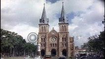 Nhà thờ chính tòa Đức Bà Sài Gòn ( Vương cung thánh đường Chính tòa Đức Mẹ Vô nhiễm Nguyên tội ), Sài Gòn ngày 22/07/196