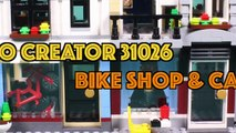 Lego Bike Shop and Cafe Assembly Animation - Lego Creator 31026 Stop Motion Build