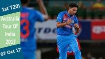 India vs Australia | 1st T20I | 07 Oct 2017 | Kuldeep Yadav POM & India won by 9 wkts | Highlights