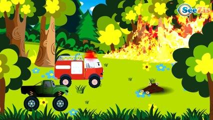 Пожарная Машина Тушит Пожар Мультфильмы про МАШИНКИ в Городе Сборник 10 Минут Все серии подряд