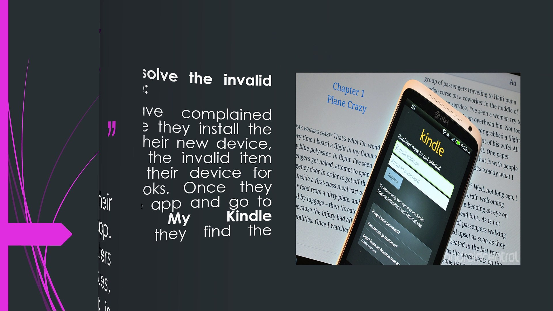 """How To Fix """"Invalid Item"""" Error For Kindle For Android App"""