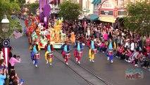 Mickeys Soundsational Parade shot high above Main Street USA at Disneyland