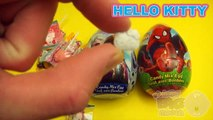 The Baby Big Mouth Show! Best of Opening 3 JUMBO Surprise Eggs! Disney Frozen Hello Kitty Spider-Man