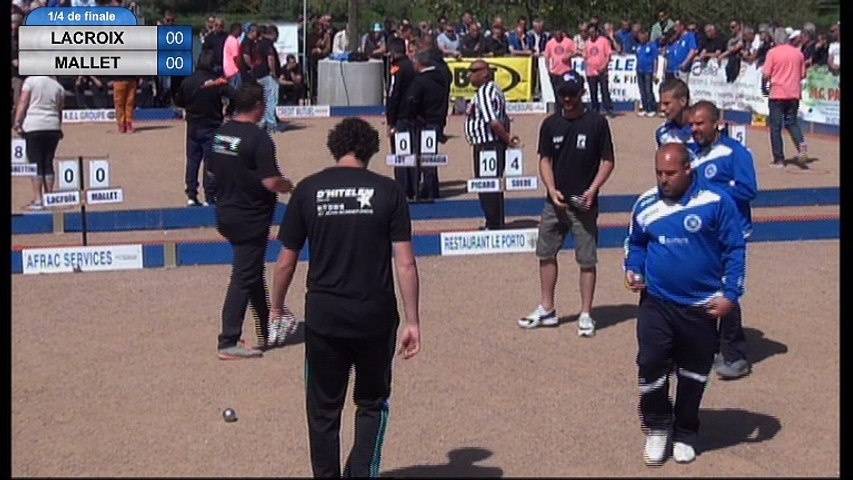 International à pétanque d'Andrézieux-Bouthéon 2017 : Quart Rocher VS Mallet