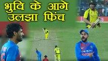 India Vs Australia 2nd T20 : Bhuvneshwar Kumar gets Aaron finch out on 8 | वनइंडिया हिंदी