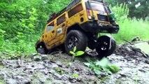 OFF Road MUD - Hummer H2 vs Land Rover Defender vs Jeep Wrangler Rubicon - Очень грязное видео :)