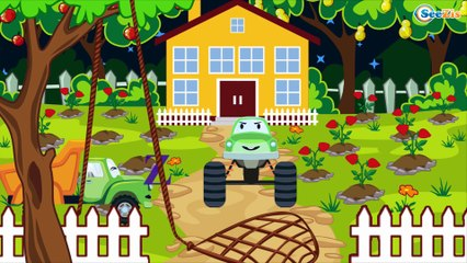 Construction Trucks: The Yellow Excavator and The Bulldozer - Cars & Trucks Cartoon for kids