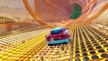 Игры для мальчиков Гонки по трамплинам Мультики про машинки Приключения кота гонщика