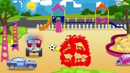 El Camión de bomberos más chulo - Dibujo animado de coches   La zona de operación